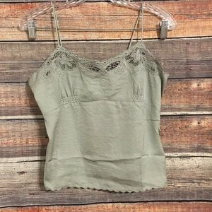 Honey Punch green camisole